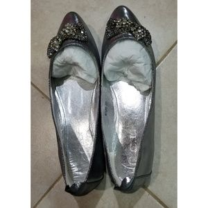CCL silver grey flats